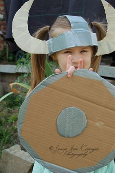 Handmade viking hat and shield for dragon viking how to train your dragon birthday party