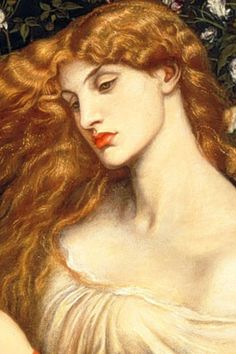 Detail of Lady Lilith, by Dante Gabriel Rossetti, originally painted in 1868 with Fanny Cornforth sitting as model. Later repainted with the face of Alexa Wilding Dante Gabriel Rossetti, Renaissance Kunst, Renaissance Paintings, Portrait Renaissance, Pre Raphaelite Paintings, Modern Art Movements, Art Moderne, Classical Art, Art Graphique