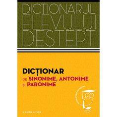 Adresându-se  mai cu seamă elevilor de gimnaziu și de liceu - dar nu numai lor -,  acest dicționar de sinonime, antonime și paronime cuprinde peste 16 500  de cuvinte-titlu din toate palierele limbii române. Formatul prietenos  și probitatea științifică îl recomandă drept un instrument de lucru util  și eficient. Cover, Books, Plastic, Double Deck Bed, Livros, Livres, Book, Blankets, Libri