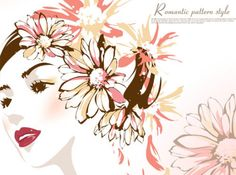 WOMEN WITH FLOWERS VECTOR MATERIAL http://www.vectorbackground.net/women-with-flowers-vector-material.html