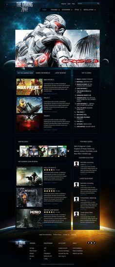 Gaming Zone - Premium Joomla 2.5 Template for Video Games Website