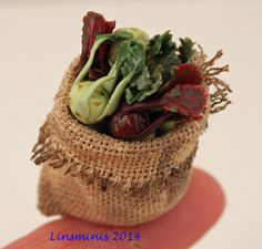 RESERVED for MINTERORS 12th scale handmade sack of by linsminis