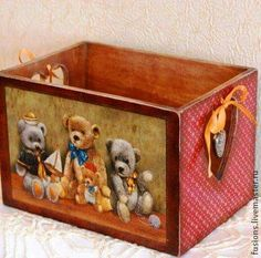 Decoupage Box Painted Bo Wooden Papel Contact Arte Country Fun Crafts For Kids Decorative Painting On Wood Toy