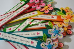 quilled bookmark