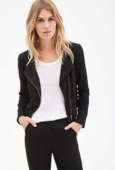 Collarless Lace Jacket   FOREVER21 - 2000099709