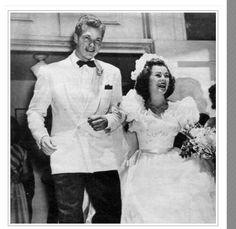 Barbara Hale and Bill Williams 1946-92 his death