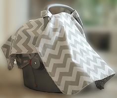 How to make your own baby car seat carrier covers.  FREE baby car seat cover patterns.  Instructions for making your own baby car seat canopy covers in cute fabrics to give as baby shower gifts.