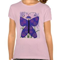 Sold :) The Butterfly With An Attitude! Girls T-Shirt