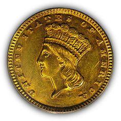 1859 Dahlonega $1 Gold Coin Obverse