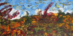 'The Texture of Fall' ---- by Derfla (18 x 36 inches) oil on canvas, $250
