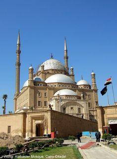 Alabaster Mosque (islamic) by Yusuf Bushnak, Cairo