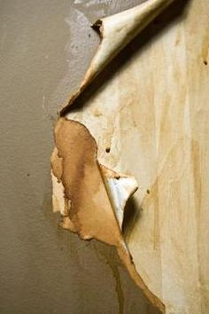The wall surface under the paper might not be in excellent condition.
