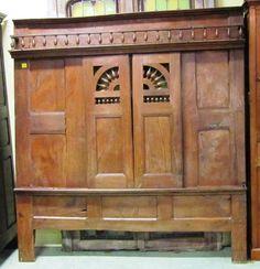 Façade de lit clos en if XIXème L=1m80 H=1m70. Antiquités Brocante,Meubles français - Au Vieux Chaudron