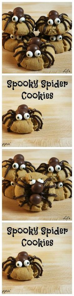 Halloween spooky spider cookies made with Whoppers! A must-make this season.