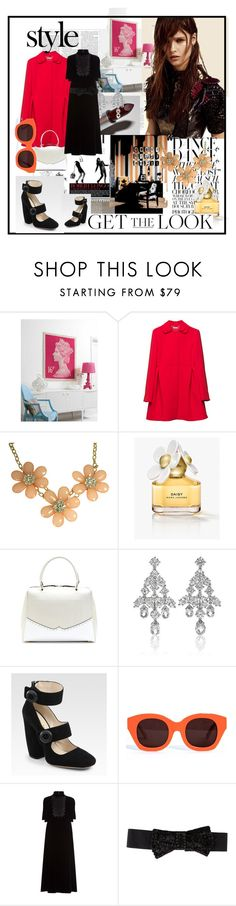 """""""Style: Winter Red and Black"""" by agathap ❤ liked on Polyvore featuring Elle, Miu Miu, Mercedes-Benz, Marc Jacobs, Marni, Harry Winston, Prada, Karen Walker, Valentino and Donna Karan"""