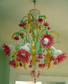 Murano chandelier, lampadario Murano, lustre Murano, lamparas Murano, canestre6 #LuceItalia