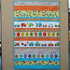Surround strips separated by sashing with a pair of borders in an ... : modern kids quilts - Adamdwight.com