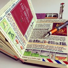Stamps, Scientific Charts, and Hand-Drawn Maps Occupy Every Inch of Travel Notebooks by Jose Naranja Nautilus, Smash Book, The Journey, Journal En Cuir, Notebook Art, Diary Notebook, Notebook Ideas, Sketch Journal, Sketchbook Layout