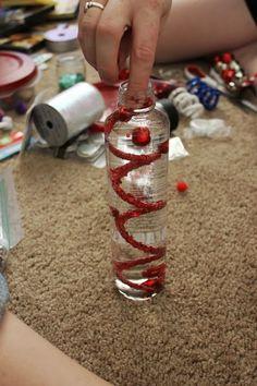 DIY Discovery Bottles, discovery bottles, voss water bottle, activity bottle