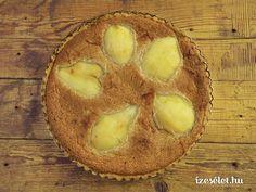 Körtés, mandulakrémes pite Camembert Cheese, Muffin, Dairy, Pie, Breakfast, Food, France, Tarte Tatin, Torte