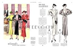 McCall October Winter 1933 | 7530 and ? on the left page