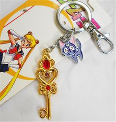 Relaxcos Sailor Moon Tsukino Usagi Logo Cosplay Keychain Accessories *** Continue to the product at the image link.