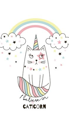 Unicorn Drawing, Unicorn Art, Cat Drawing, Drawing For Kids, Cat Wallpaper, Pastel Wallpaper, Iphone Wallpaper, Pastel Background Wallpapers, Wallpaper Backgrounds