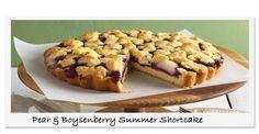 Pear & Boysenberry Summer Shortcake