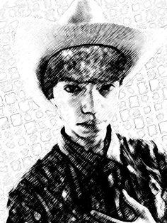EU SOU UM COWBOY!Esse autorretrato mostra uma de muitas das minhas personalidades, uma delas é o  cowboy caipira, um estilo que gosto de ter, como está chegando uma época festiva muito emocionante, quis me representar através dessa imagem para demonstrar o jeito de ser caipira.Isaque de Araújo-1003