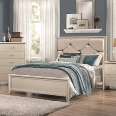Coaster Furniture Lana Upholstered Bed, Size: Queen - 205181Q, Durable