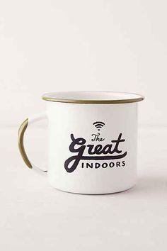 The Great Indoors printed enamel mug #urbanoutfitters