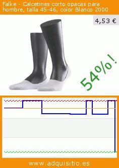 Falke - Calcetines corto opacas para hombre, talla 45-46, color Blanco 2000 (Ropa). Baja 54%! Precio actual 4,53 €, el precio anterior fue de 9,80 €. https://www.adquisitio.es/falke/calcetines-corto-opacas-22