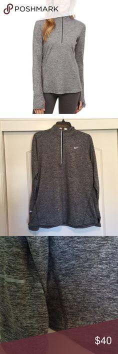 Nike Running 1/2 Zip EUC worn once Reflective detailing, thumbholes Dri-Fit material Nike Tops Tees - Long Sleeve