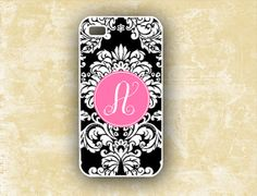 iphone 5c cases for teen girls with the monogram of the name Allison   Monogram floral Iphone 5 case, Iphone 4 case 5c 5s - Black damask and ...