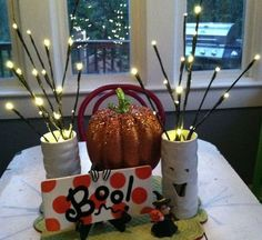 Halloween Table Centerpiece Click Pic for More Ideas - #Halloween #Craft #Ideas