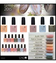 New 2015 spring colors now at Opal Spa
