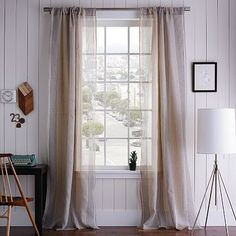 """Mercer Woven Window Panel on westelm.com  Also on Apartment Therapy """"Jamie's something old something new"""" home tour"""