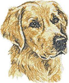 Advanced Embroidery Designs - Golden Retriever