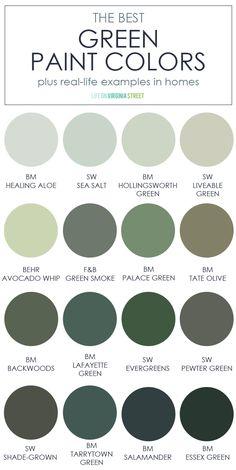 Green Paint Colors, Kitchen Paint Colors, Wall Paint Colors, Bedroom Paint Colors, Best Paint Colors, Cabinet Paint Colors, Outside Paint Colors, Playroom Paint Colors, Cottage Paint Colors