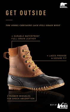 Shop this versatile boot from SOREL. Full grain leather makes this waterproof boot durable while seam-sealing and a Thinsulate™ lining ensure that feet stay warm and dry during daily activities in cold winter weather. Get the look from SOREL only at REI.
