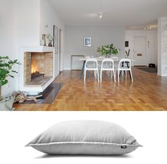 Stylish Swedish home and giant floor cushion from 'Product & Place' - inspiring interiors, matched with the Lujo pieces we'd love to see living there!  See them all here: http://www.lujo.co.nz/blogs/lujo-inspiration-blog/14296609-product-place