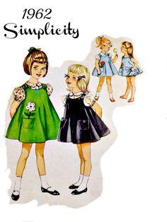 60s Simplicity 4246 Pattern Vintage Girls A by VintageNeedleFinds, $6.00