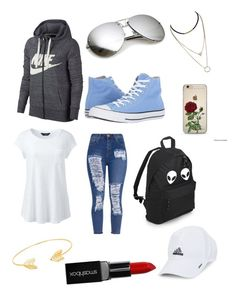 """Untitled #50"" by pisy88 on Polyvore featuring NIKE, Lands' End, Converse, Lord & Taylor, adidas and Smashbox"