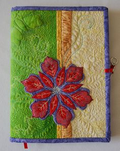 Quilted Composition Notebook Journal Cover  by DeesArtistries,
