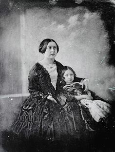 Royal patronage of photography  Daguerreotype of Queen Victoria and the Princess Royal c.1845. The daguerreotype was one of the first photographic processes, in which the image was made on a light-sensitive, silver-coated metallic plate.