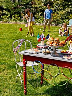 Carry the torch in your very own backyard by throwing a summer Olympics-inspired party! With a few tricks, your get-together will be so action-packed it'll deserve its own opening ceremonies.