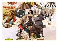 """""""Circus"""" by grietje-thijssen ❤ liked on Polyvore featuring art"""
