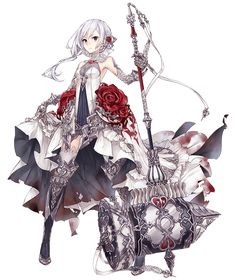View an image titled 'Snow White, Crusher Job Art' in our SINoALICE art gallery featuring official character designs, concept art, and promo pictures. Female Character Design, Character Concept, Character Art, Character Costumes, Manga Girl, Anime Girls, Fantasy Characters, Female Characters, Anime Characters