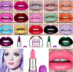 Lime Crime I like the different colors. Blue, violet, deep reddish purple awesome idea. Incensewoman