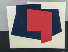 (1921-1976) Abstract composition By Amedée Cortier ,Circa  1960